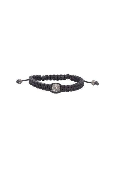Loren Jewels - Sterling Silver & Macrame Diamond Bracelet