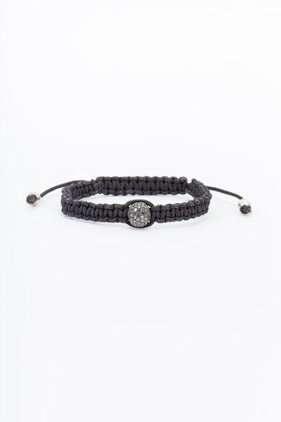 Loren Jewels - Sterling Silver & Macrame Black Diamond Bracelet