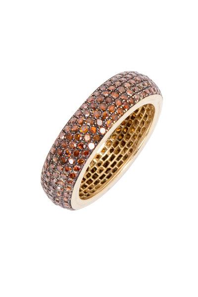 Loren Jewels - Yellow Gold Red Diamond Band