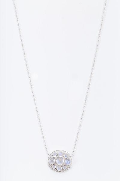 Nam Cho - White Gold Moonstone Diamond Necklace