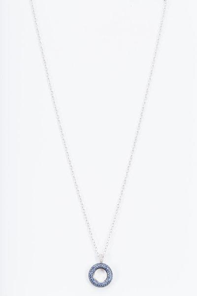 Nam Cho - White Gold White & Blue Sapphire Necklace