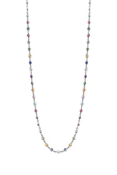 Nam Cho - Yellow Gold Multi Gemstone Necklace