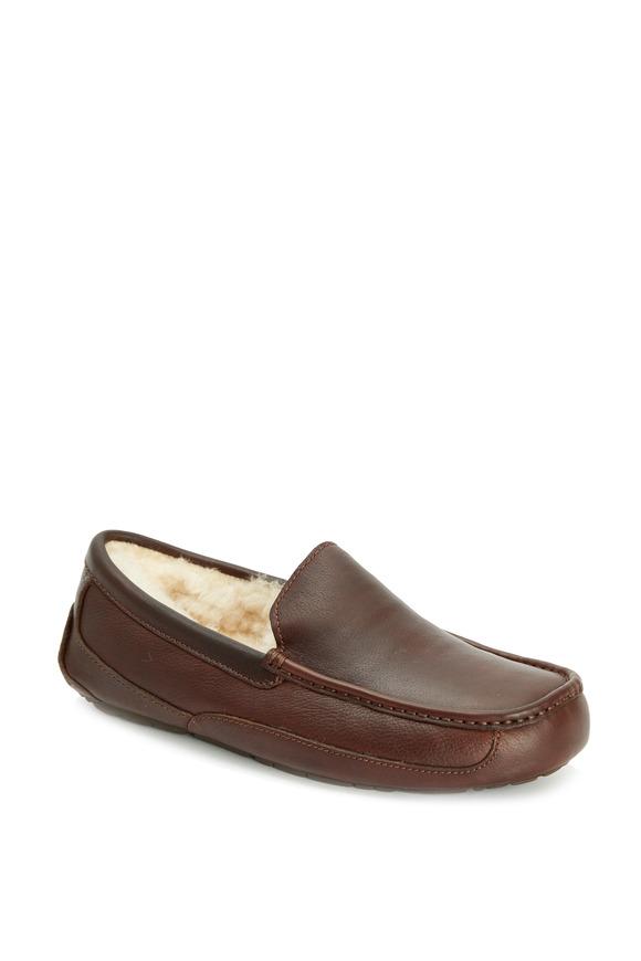 Ugg Ascot China Tea Leather Slipper