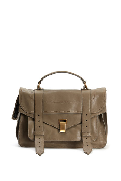 Proenza Schouler - PS1 Smoke Leather Flap Medium Shoulder Bag