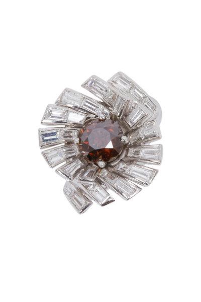 Fred Leighton - White Gold Cognac & White Diamond Ring