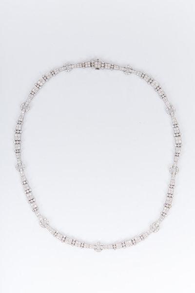 Fred Leighton - White Gold White Diamond Necklace
