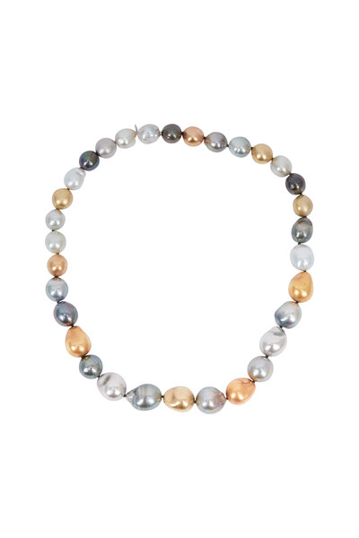 Fred Leighton - Colored Baroque Pearl Necklace