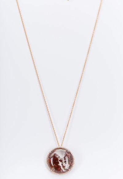 Kimberly McDonald - Rose Gold Phantom Quartz Diamond Necklace