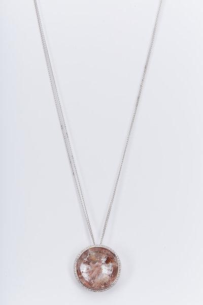 Kimberly McDonald - White Gold Phantom Quartz Diamond Necklace