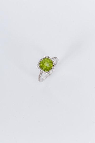 Kimberly McDonald - White Gold Peridot Diamond Cocktail Ring