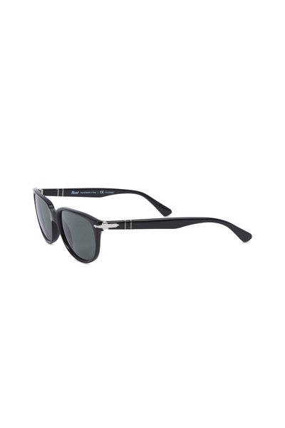 Persol - Wayfarer Black Polarized Sunglasses