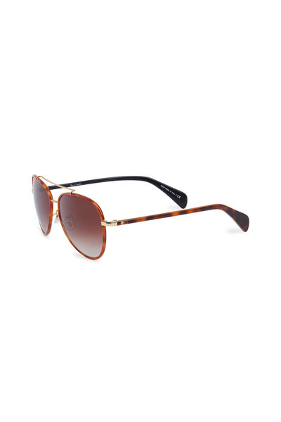 Paul Smith - Haden Amber Aviator Sunglasses