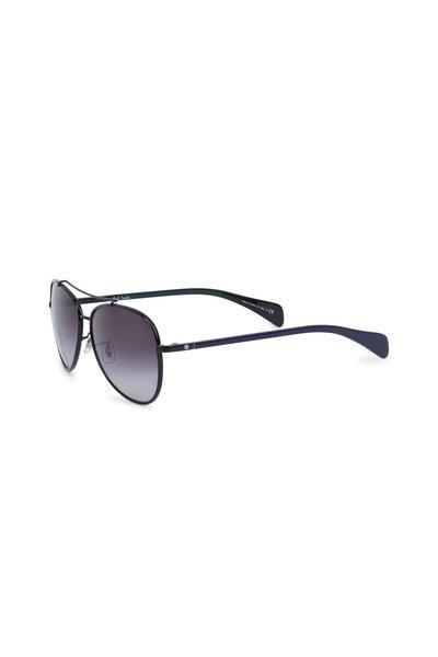 Paul Smith - Haden Black Polarized Aviator Sunglasses