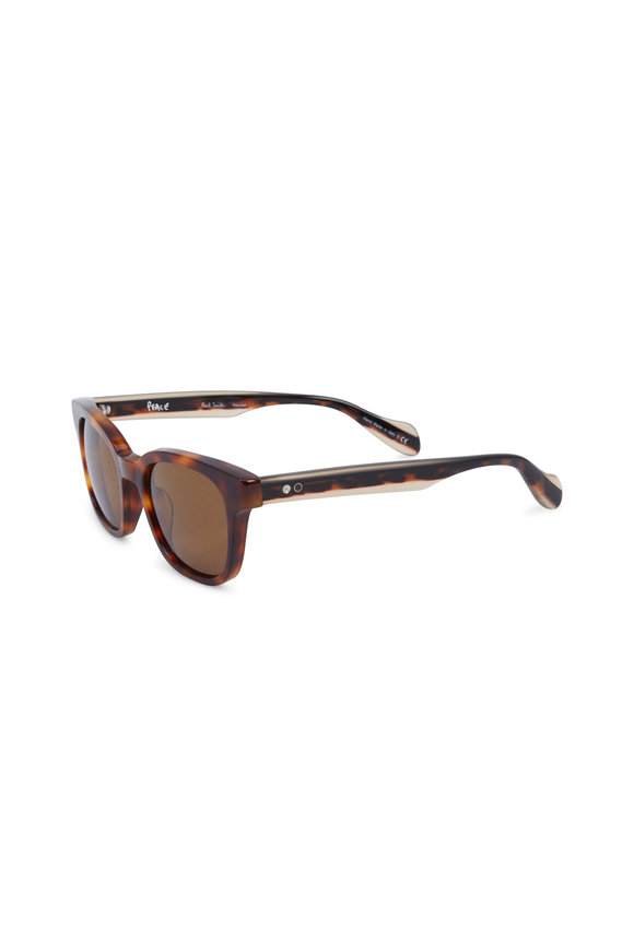 Paul Smith Denning Brown Polarized Wayfarer Sunglasses