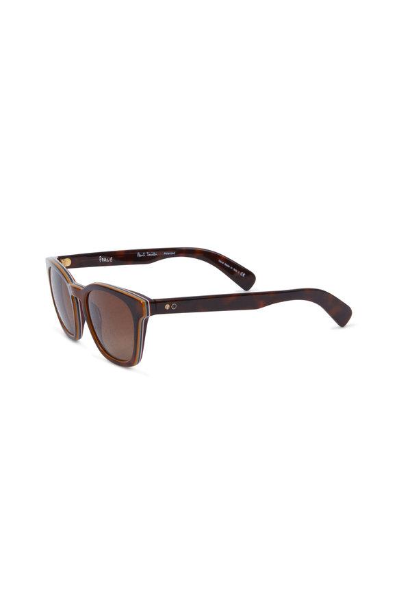 Paul Smith Rockley Brown Polarized Wayfarer Sunglasses