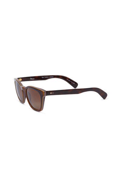 Paul Smith - Rockley Brown Polarized Wayfarer Sunglasses