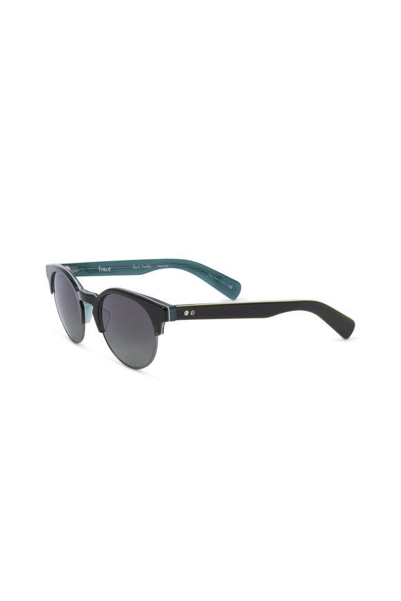 Paul Smith Jameston Green Polarized Round Sunglasses