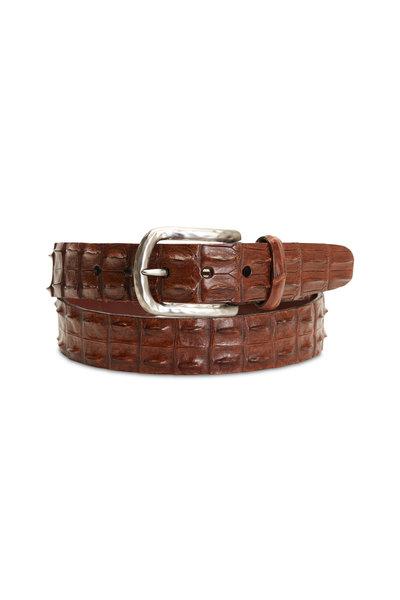 Torino - Cognac Crocodile Belt