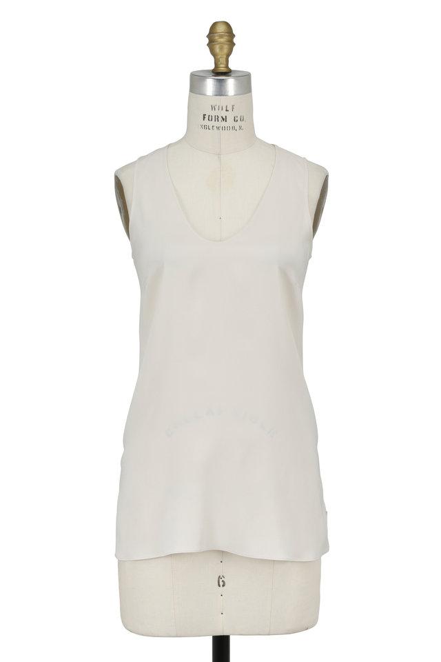 Vanilla Stretch Silk Sleeveless Top