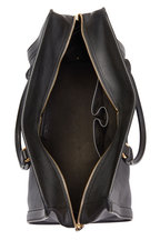 Alexander McQueen - Padlock Black Leather Medium Satchel