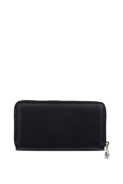 Alexander McQueen - Black Leather Continental Zip Wallet