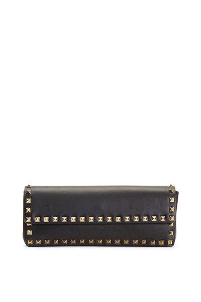 Valentino Garavani - Rockstud Black Leather Bracelet Clutch