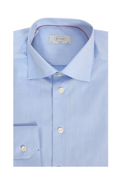 Eton - Powder Blue Slim Fit Dress Shirt