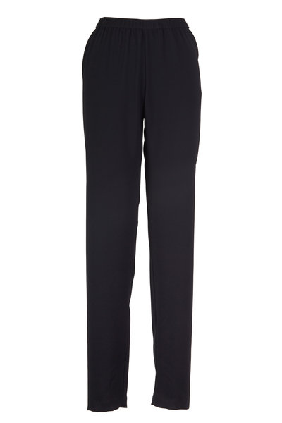 Peter Cohen - Black Petal Straight Leg Pants