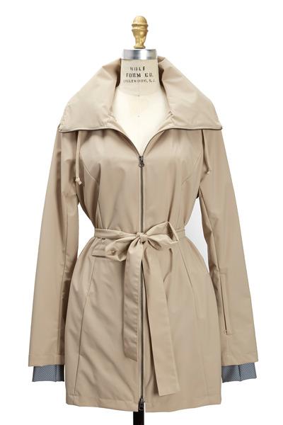 Elizabeth Roberts - New Voyager Sand Belted Coat