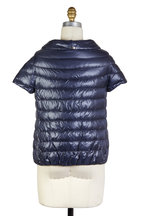Herno - Navy Blue Cap Sleeve Puffer Jacket