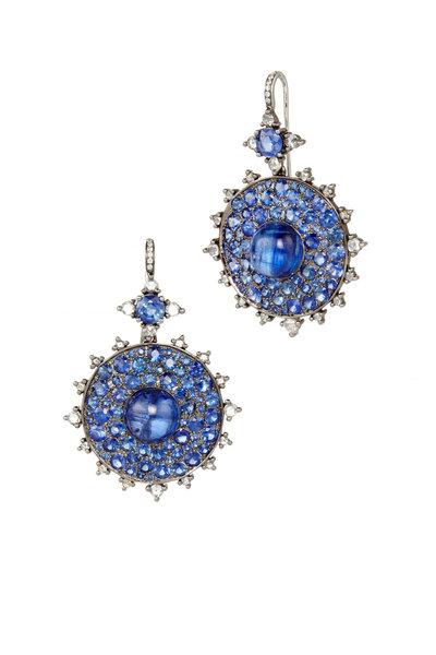 Nam Cho - White Gold Sapphire Diamond Clip Earrings