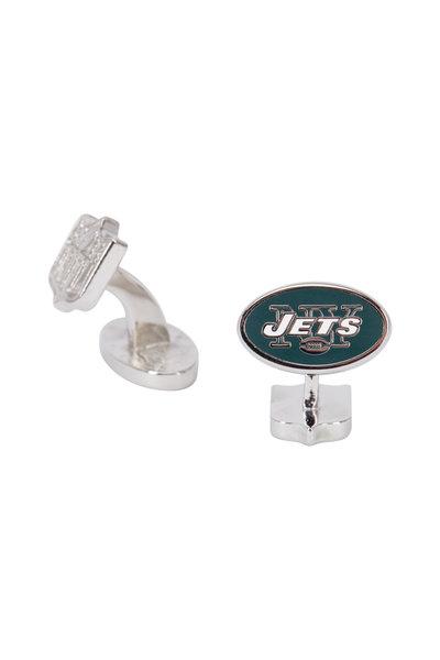 Cufflinks Inc - Sterling Silver New York Jets Cuff Links