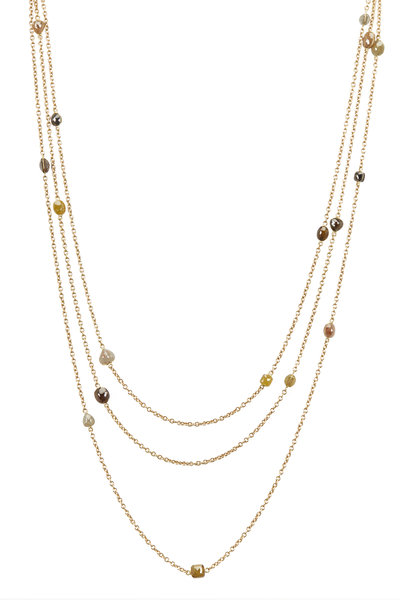 Todd Reed - Yellow Gold Fancy Diamond Necklace