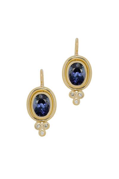 Temple St. Clair - 18K Yellow Gold Tanzanite & Diamond Drop Earrings