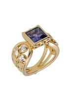 Temple St. Clair - Yellow Gold Tanzanite Diamond Vine Ring