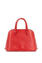 Nancy Gonzalez - Coral Crocodile Medium Dome Bag