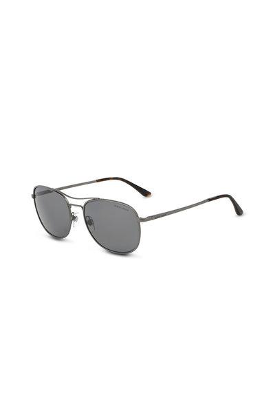 Armani Sunglasses - Frames of Life Gunmetal Gray Polarized Sunglasses