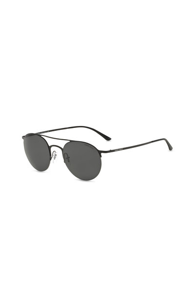 Armani Sunglasses - Luxury Matte Black Round Sunglasses