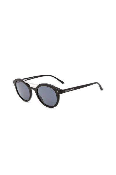 Armani Sunglasses - Frames of Life Matte Black Round Sunglasses