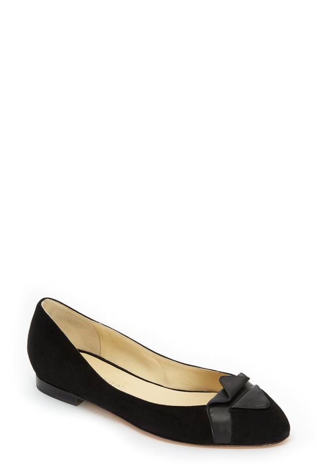Gustavia Black Suede Ballet Flat