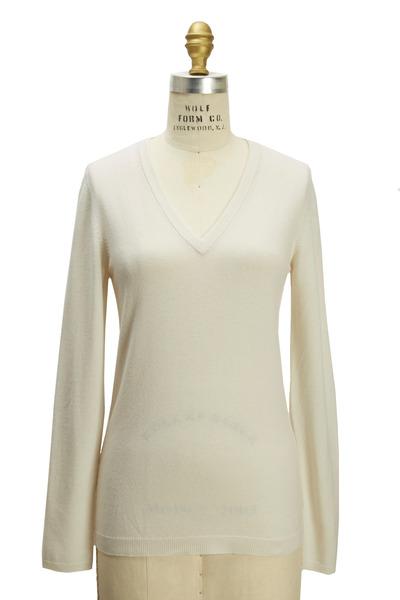 Brunello Cucinelli - Off-White Cashmere Pullover
