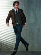 Brunello Cucinelli - Navy Blue Basic Fit Jean