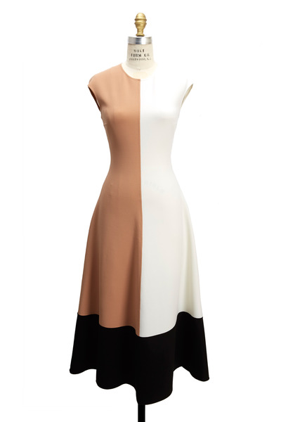 Michael Kors Collection - Color Block Sleeveless Midi Dress