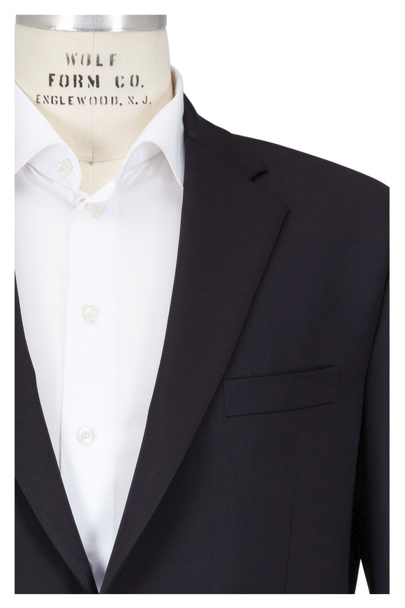 Samuelsohn Gable Black Wool Contemporary Fit Tuxedo