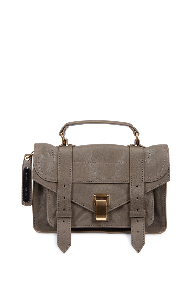 PS1 Tiny Smoke Leather Crossbody Satchel