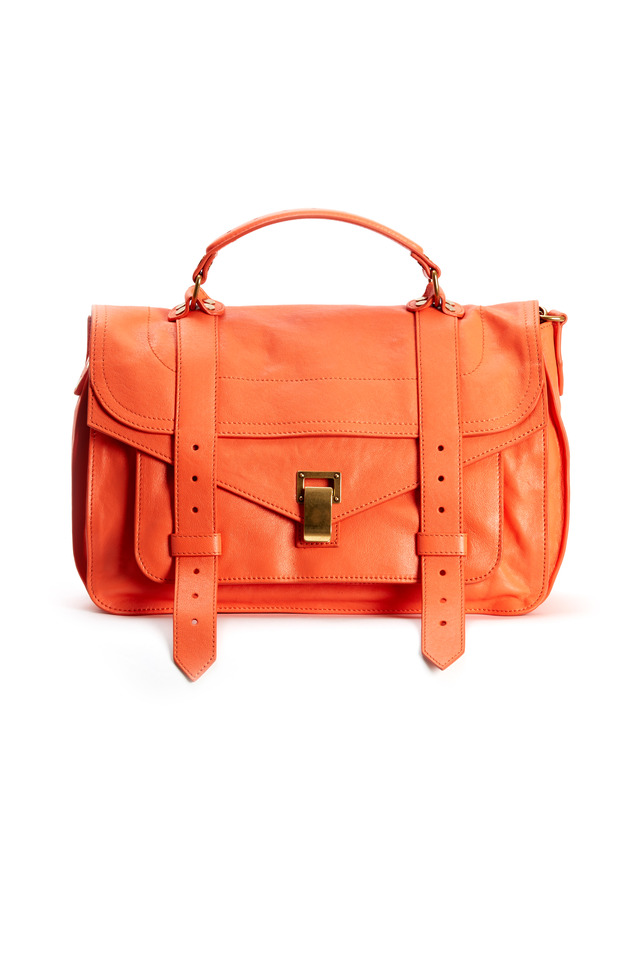 PS1 Coral Leather Medium Flap Handbag