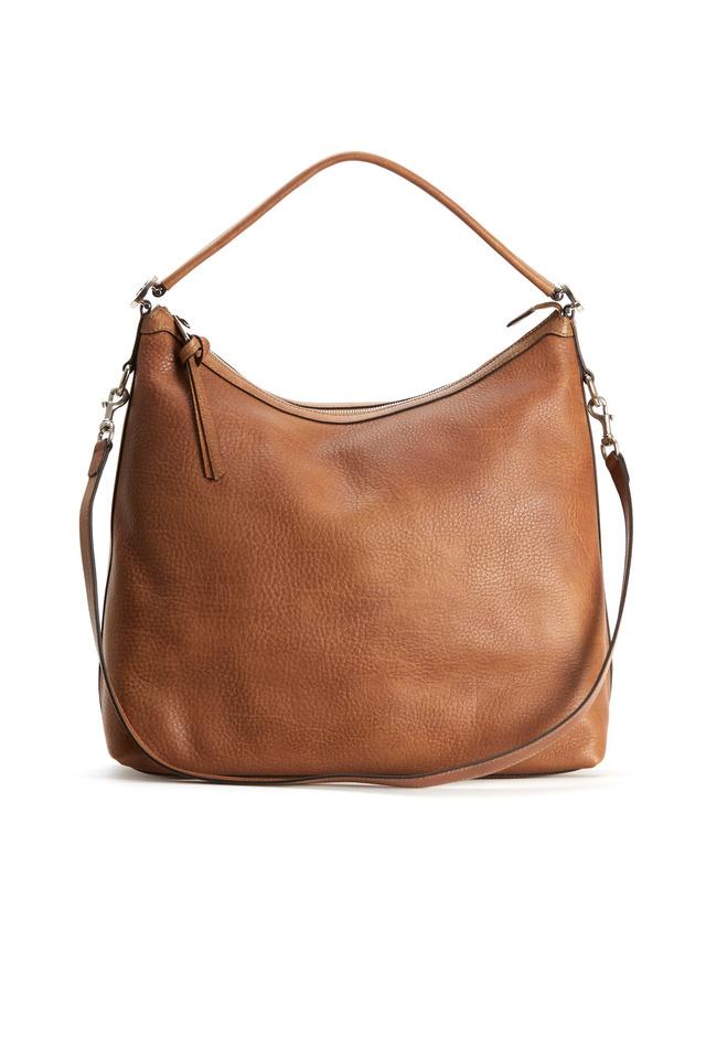 Natural Slouch Long Strap Hobo Handbag