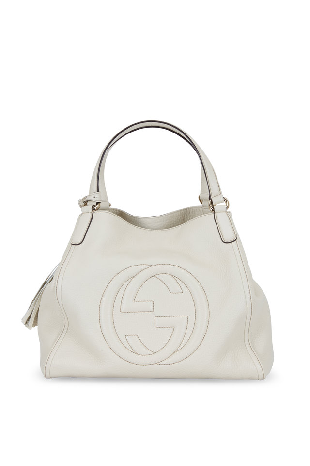 Soho Off White Leather Shoulder Bag