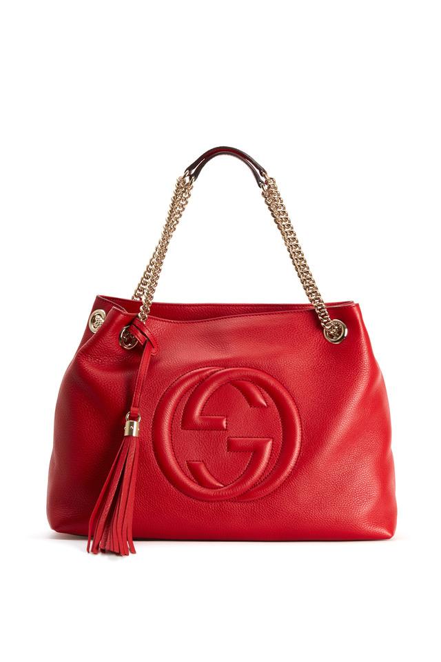 Soho Red Leather Medium Tote