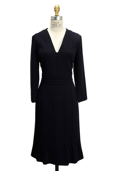Escada - Navy Blue Techno Dress